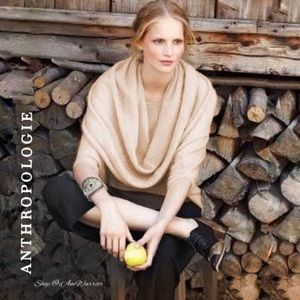 Anthropologie {Guinevere} cowl neck shrug/sweater
